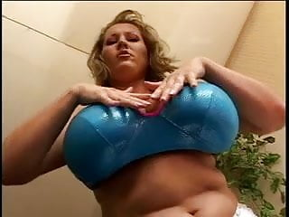 Fetish lingerie man - Blonde milf with massive tits fingers and dildos herself
