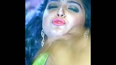 Amrapali dubey Moaning facial cumtribute with Lotion