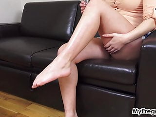 My pregnant nude - Oiled up missy shows off her nude, pregnant body