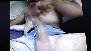 Hairy bear daddy jerking huge cut thick cock