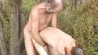 Dad fuck twink outdoor