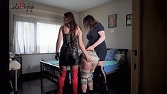 Julie skyhigh & pascale dominate & fuck wool slave whipping