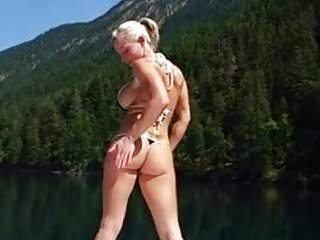 Nude on a boat Extremely hot muscle woman fucked on a boat
