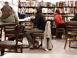 Adult bookstore videos free Candid feet shoeplay dipping at bookstore cafe