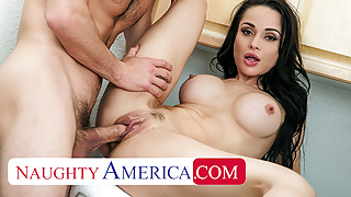 Naughty America - Crystal Rush gets caught touching herself