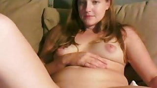 Hot blond with shaved pussy