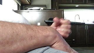 Wanking my penis and cumming