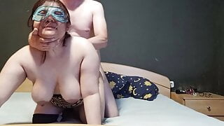 StepMom and stepson share bed and he fuck her