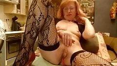 Granny show in cam