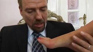 Cum on Tera's feet