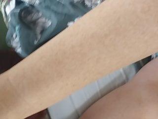 Cum on her flip flops - Cum on wifes feet in new flip flops.