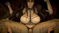 Sex with the main succubus, a woman with big tits. PC