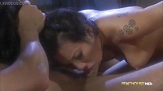 Asa Akira having rough sex with older guy