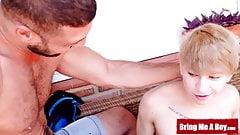 BRINGMEABOY Blond Twink Daniel Hausser Barebacked By Daddy