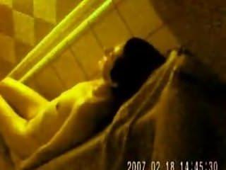 Handjob in sauna Sauna-jerk behind a woman