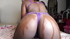 A big big black pussy that wants you to give her all your cu