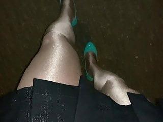 Shara headley bikini Shara pantyhose in glossy pantyhose and high heels