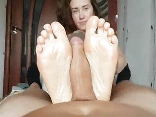 Homemade facial oily skin - Katie gives oily footjob