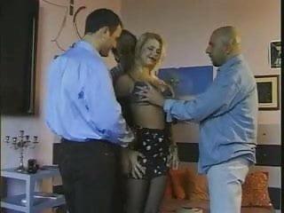 Big tits double Vintage big tits blonde gangbang dp