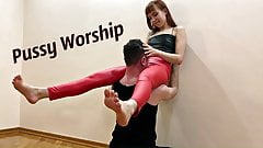 Goddess Kira Tries Extreme Positions For Pussy Worship