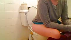 Shame Girl on Toilet