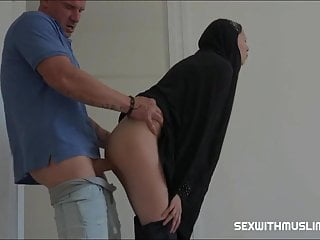 Sexy women in burka Girl covered in burka is fucked hard on sofa