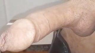I woke up to this hard wet throbbing cock this morning