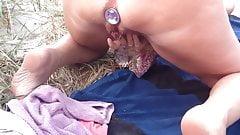 Butt plug milf masturbation