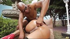 Perfect sexy shemale suck and fuck big black cock