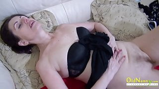 OldNannY Lonely Step Mom Solo Pussy Masturbation
