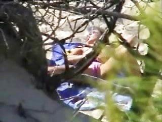Dutch nude beach girls Caught a girl rubbing her pussy in nude beach