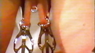 Iam Pierced shaved slave with heavy piercings weights