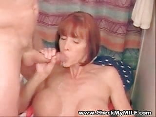 Body hot mature Hot busty milf with gorgeous body slurping on cock