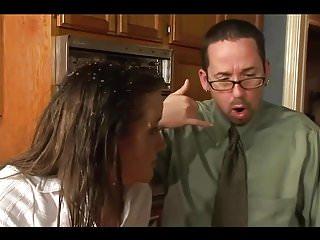 Sex in kitchen photos - Brunette rough anal sex in kitchen