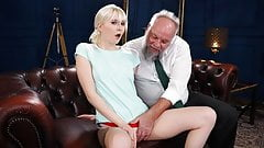 Petite Delivery Girl Gets Rewarded For Her Service