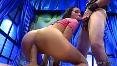 Latina francys belle in gangbang with cums and dp