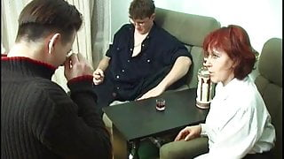 horny russian mature slut seduces 2 boys for threesome