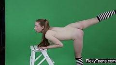 Anna Mostik shows gymnastics
