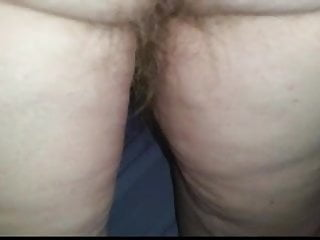 Big ass wank - Big hairy ass, hairy pits,hanging tits as she wanks me