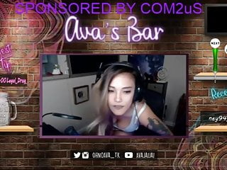 Streamer sex Avagg twitch streamer cleavage and upskirt