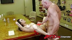 ZTOD - Hot female boss fucked by stockboy