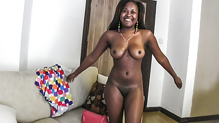 Jolly Cute Ebony Teen College Girl Fucked Hard in Casting