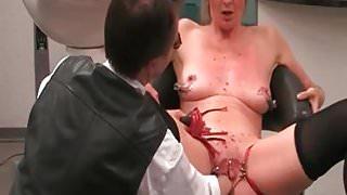 I am Pierced BDSM slave with pussy piercings stuffed