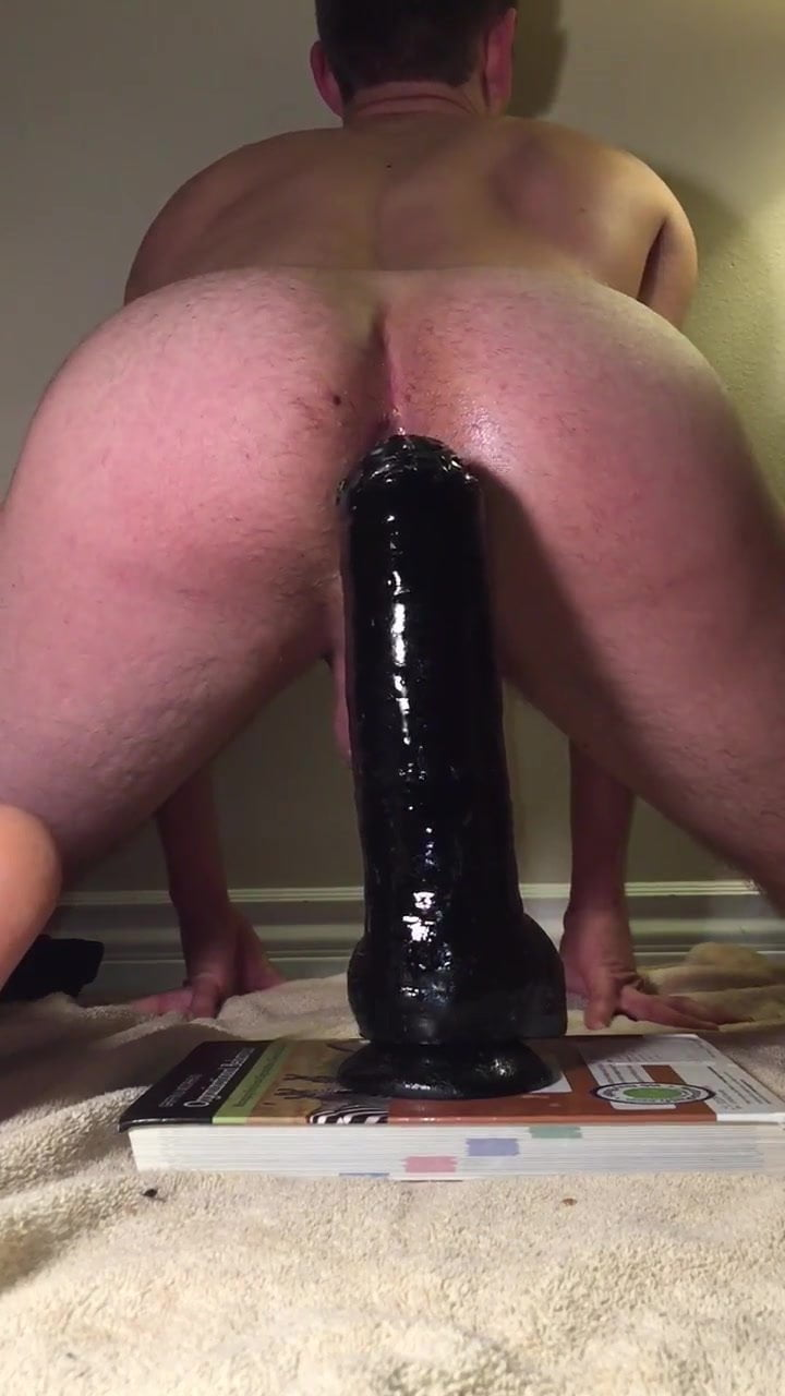 Gay guy deep anal insertion