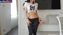 russian girl in leggings