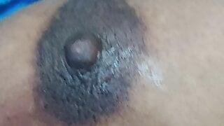 Tamil Pondati, My Sexy wife's Dark Nipples, size 38 Boobs