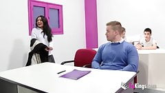 Jordi and friends fuck in English classroom