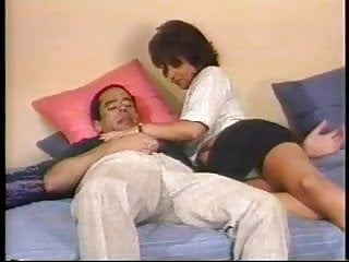 Busty brunette gets boned Cute latina with perky tits gets boned on her bed