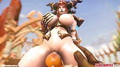 Big tits Alexstrasza gets fucked hard by big dick