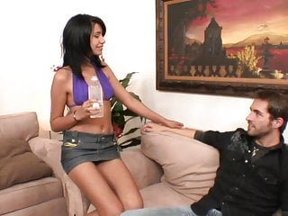 Nightengale dropping facials Olive skin latina licks every drop of cum after fucking